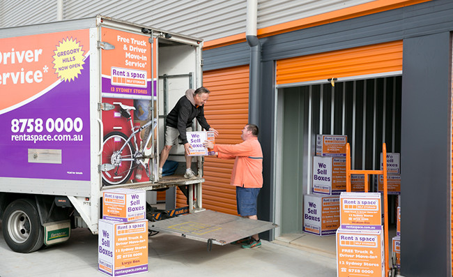 moving boxes into self storage
