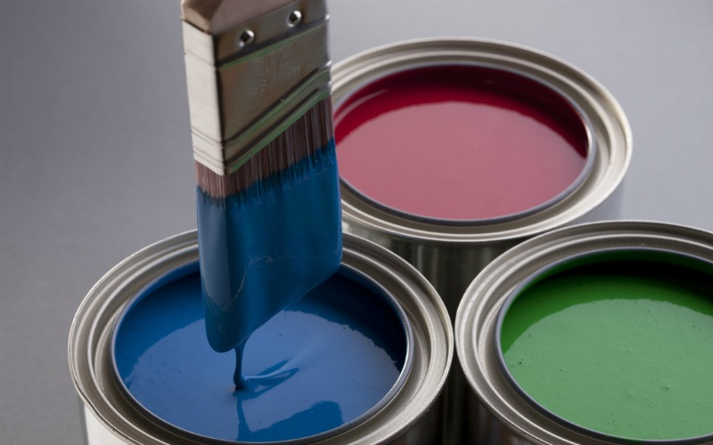 Painting is a common DIY project over Easter